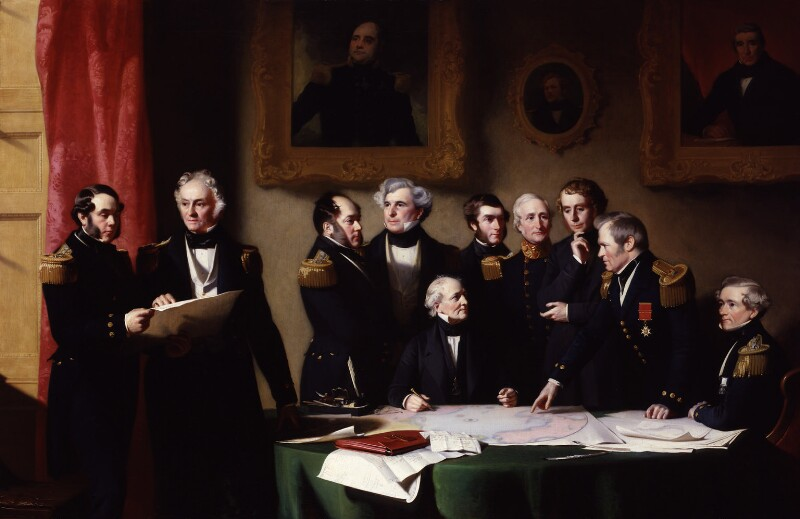 The Arctic Council planning a search for Sir John Franklin, by Stephen Pearce, 1851 -NPG 1208 - © National Portrait Gallery, London