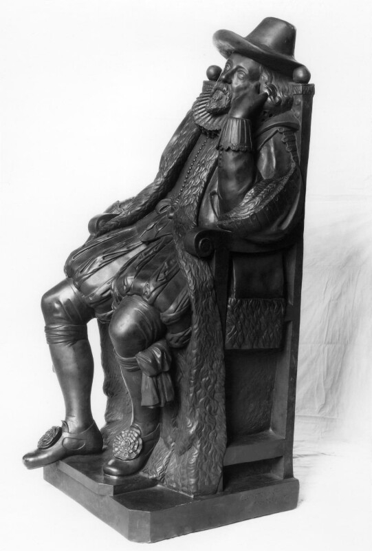 Francis Bacon, 1st Viscount St Alban, by Elkington & Co, cast by  Domenico Brucciani, after  Unknown artist, circa 1875, based on a work of 1630s - NPG 408 - © National Portrait Gallery, London