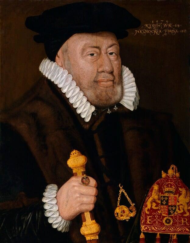 Sir Nicholas Bacon, by Unknown artist, inscribed 1579 - NPG 164 -