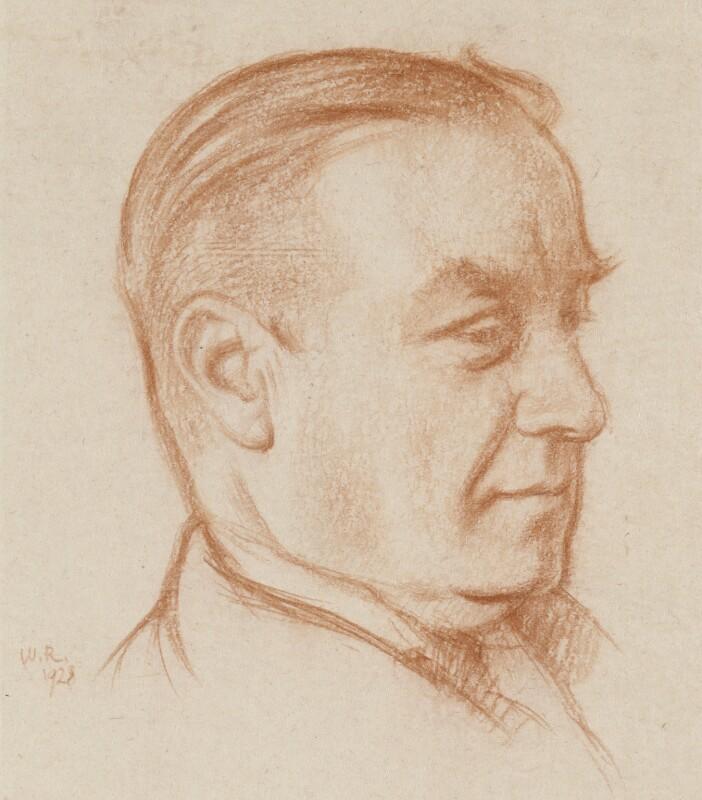 Stanley Baldwin, 1st Earl Baldwin, by William Rothenstein, 1928 - NPG 3866 - © National Portrait Gallery, London
