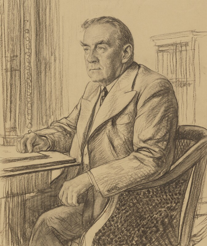 Stanley Baldwin, 1st Earl Baldwin, by Francis Dodd, 1942 - NPG 4425 - © National Portrait Gallery, London