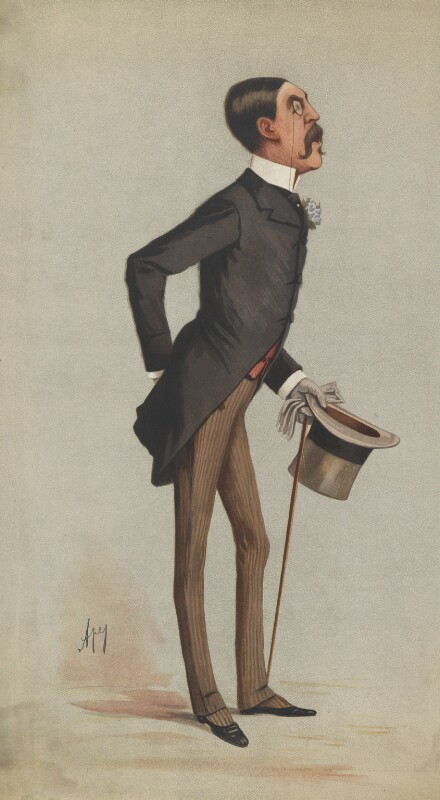 Sir Squire Bancroft Bancroft (né Butterfield), by Carlo Pellegrini, 1883 -NPG 5072 - © National Portrait Gallery, London