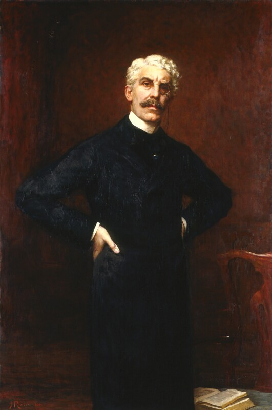 Sir Squire Bancroft Bancroft (né Butterfield), by Hugh Goldwin Riviere, 1900 - NPG 2121 - © National Portrait Gallery, London