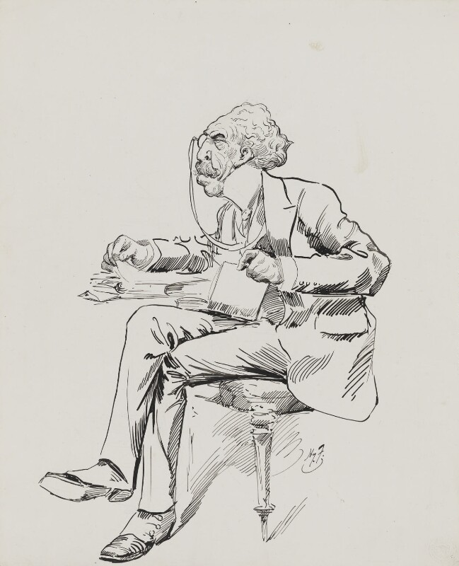 Sir Squire Bancroft (né Butterfield), by Harry Furniss, circa 1885-1923 -NPG 4095(2) - © National Portrait Gallery, London