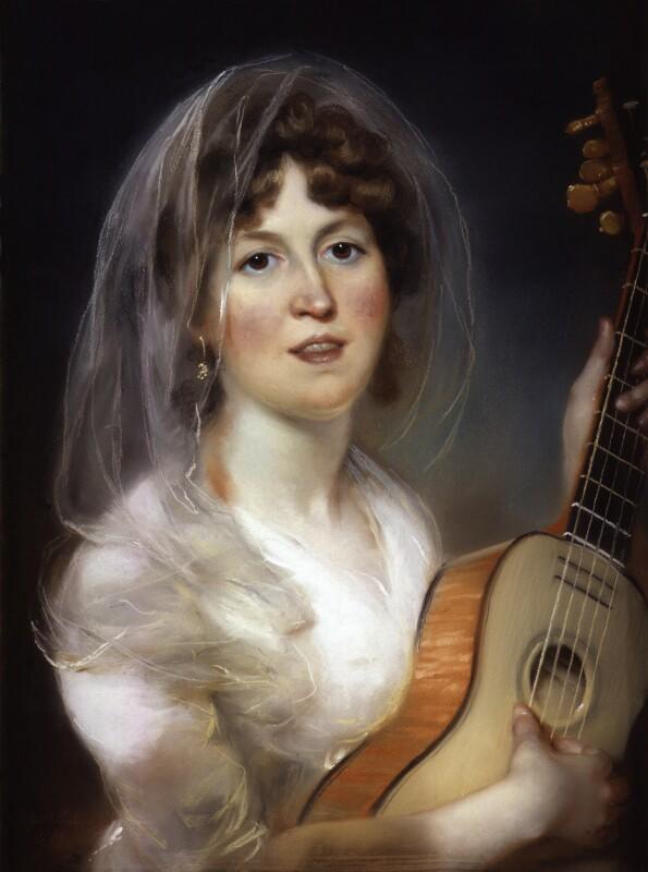 Elizabeth Bannister (née Harpur), by John Russell, 1799 -NPG 1770 - © National Portrait Gallery, London