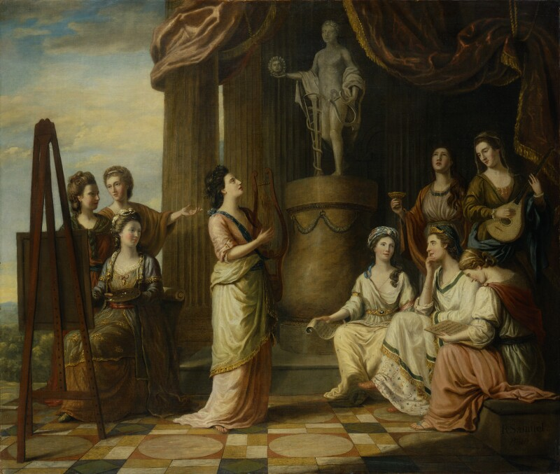 Portraits in the Characters of the Muses in the Temple of Apollo, by Richard Samuel, 1778 -NPG 4905 - © National Portrait Gallery, London