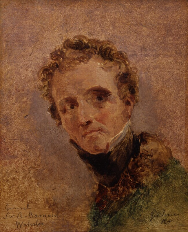 Sir Andrew Francis Barnard, by George Jones, circa 1815 - NPG 982a - © National Portrait Gallery, London
