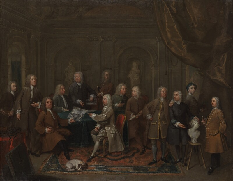 'A Conversation of Virtuosis...at the Kings Arms', by Gawen Hamilton, 1735 -NPG 1384 - © National Portrait Gallery, London