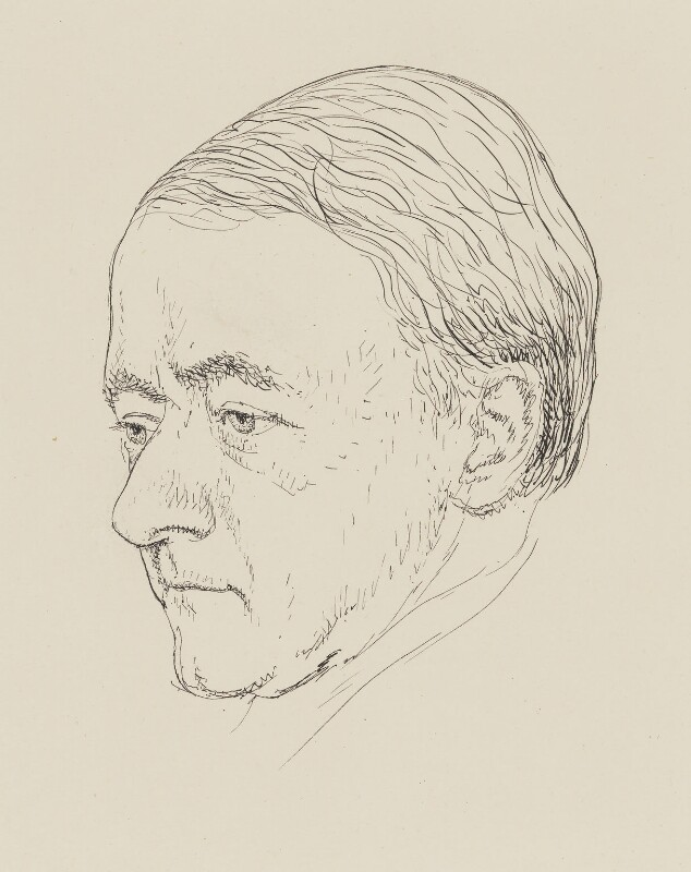 Sir Arnold Bax, by Powys Evans, published 1931 - NPG 4400 - © estate of Powys Evans