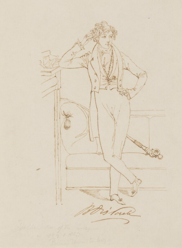 Benjamin Disraeli, Earl of Beaconsfield, by or after Daniel Maclise, circa 1833 - NPG 3093 - © National Portrait Gallery, London