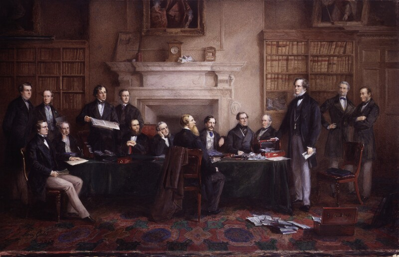 The Derby Cabinet of 1867, by Henry Gales, 1868 - NPG 4893 - © National Portrait Gallery, London