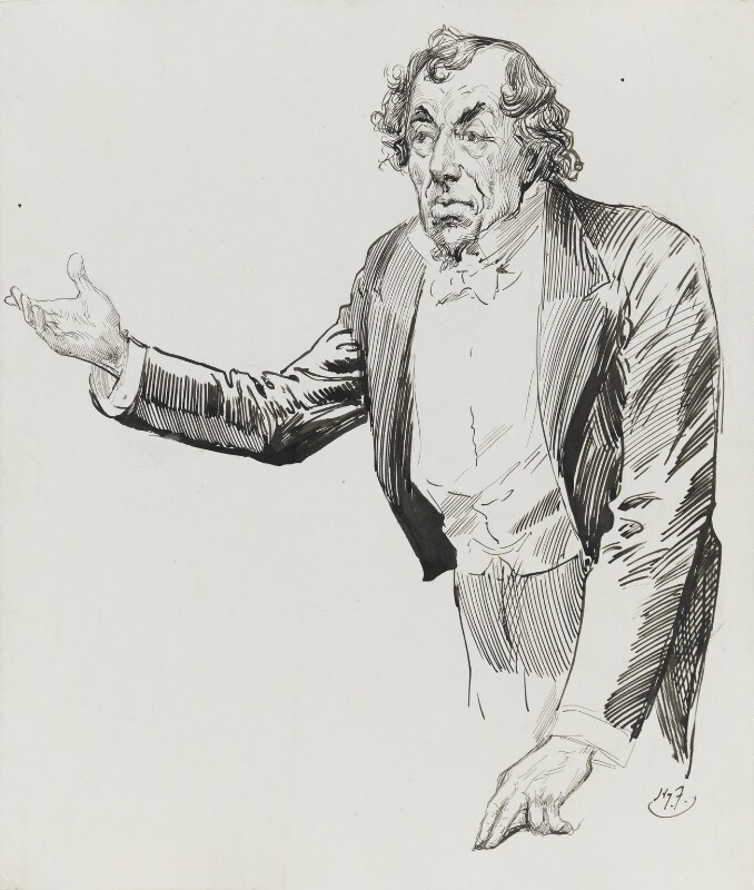 Benjamin Disraeli, Earl of Beaconsfield, by Harry Furniss, 1880s-1900s - NPG 3339 - © National Portrait Gallery, London