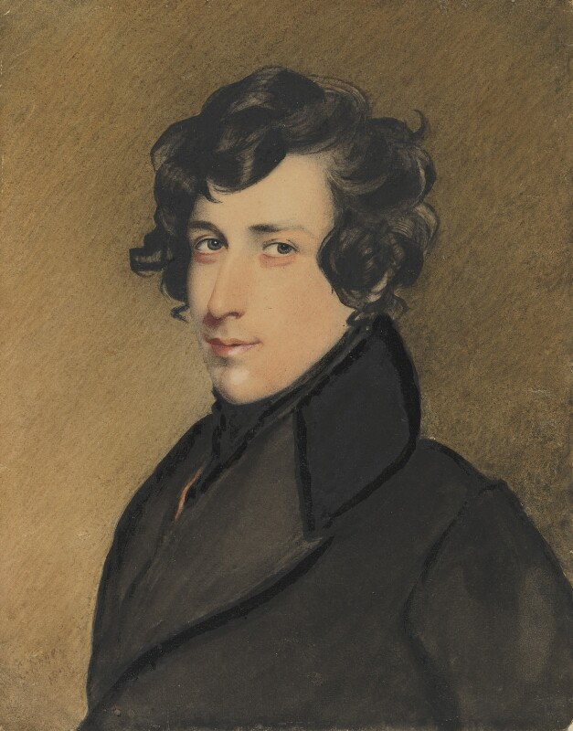 Unknown man, formerly known as Benjamin Disraeli, Earl of Beaconsfield, by Charles Richard Bone, 1828 - NPG 4503 - © National Portrait Gallery, London
