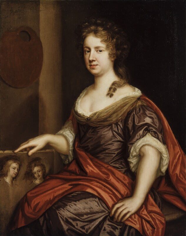 Mary Beale, by Mary Beale, circa 1666 - NPG 1687 - © National Portrait Gallery, London