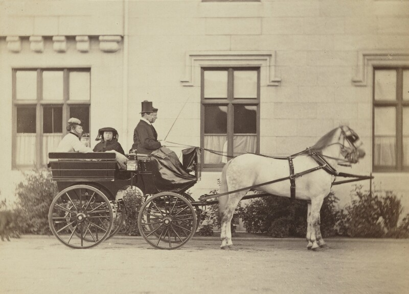 Princess Louise Caroline Alberta, Duchess of Argyll, Princess Beatrice of Battenberg and Queen Victoria driving, by Henry Joseph Whitlock, 1867 - NPG P22(1) - © National Portrait Gallery, London
