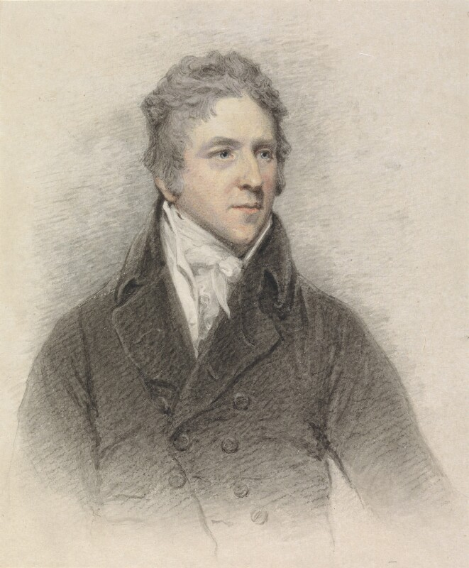 Sir George Howland Beaumont, 7th Bt, by John Wright; John Hoppner, engraved 1812, based on a work of 1803 -NPG 3157 - © National Portrait Gallery, London