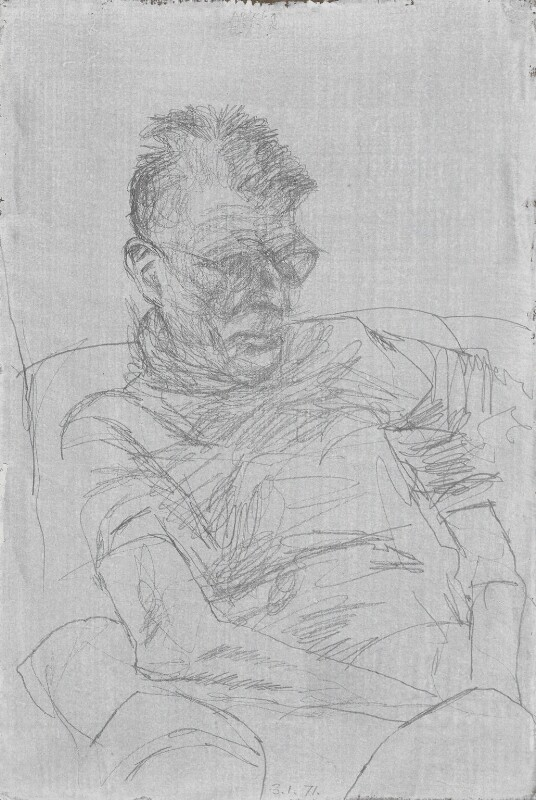 Samuel Beckett, by Avigdor Arikha, 1971 - NPG 5100 - © National Portrait Gallery, London
