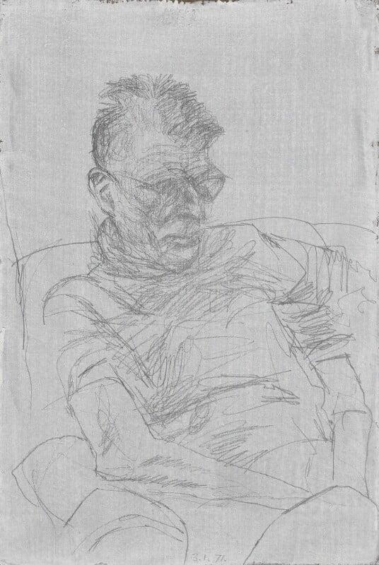 Samuel Beckett, by Avigdor Arikha, 1971 - NPG 5100 - © National Portrait Gallery, London