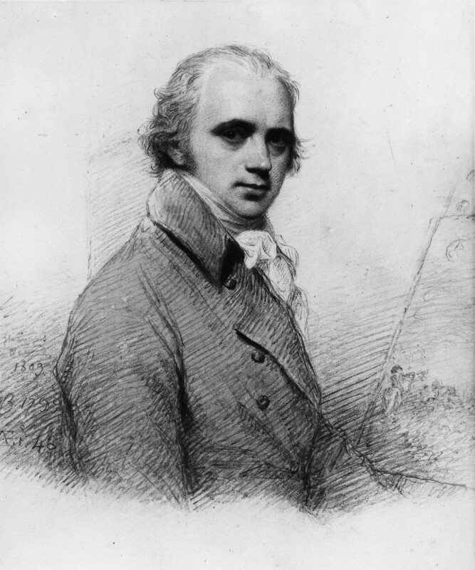 Sir William Beechey, by William Evans; Sir William Beechey, 1809, based on a work of 1799 -NPG 3158 - © National Portrait Gallery, London