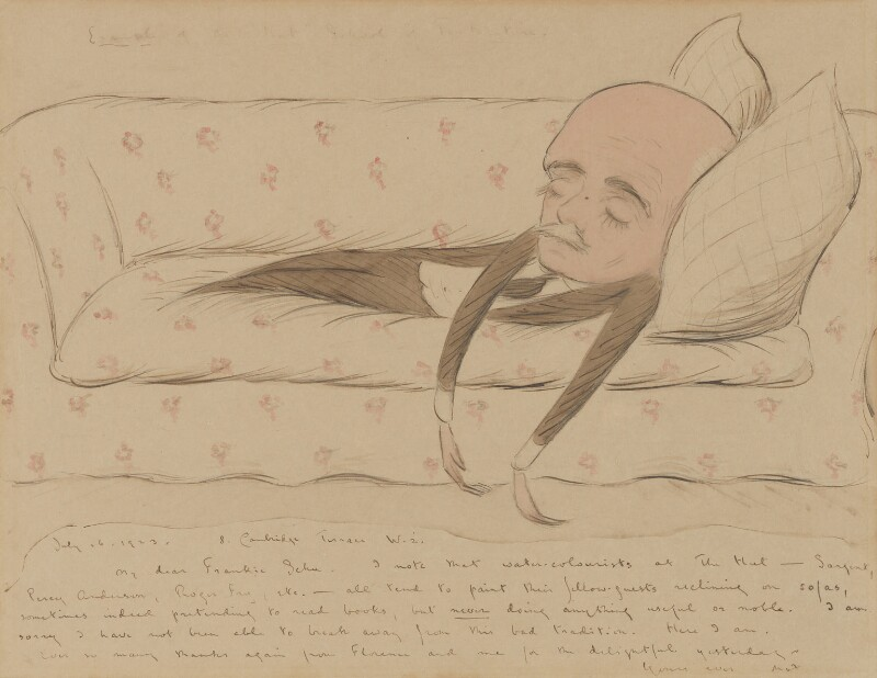 Sir Max Beerbohm, by Sir Henry Maximilian ('Max') Beerbohm, 1923 - NPG 5107 - © estate of Max Beerbohm