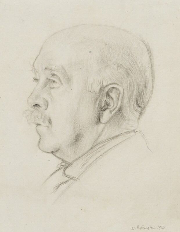 Sir Max Beerbohm, by Sir William Rothenstein, 1928 - NPG 4141 - © National Portrait Gallery, London