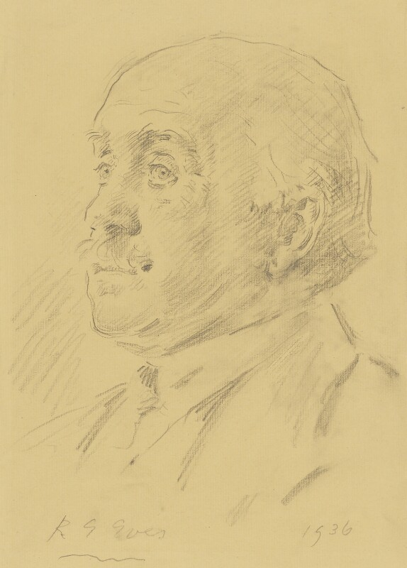 Sir Max Beerbohm, by Reginald Grenville Eves, 1936 - NPG 4000 - © National Portrait Gallery, London
