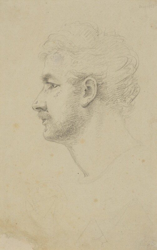 Giovanni Battista Belzoni, by William Brockedon, 1823 - NPG 2515(1) - © National Portrait Gallery, London