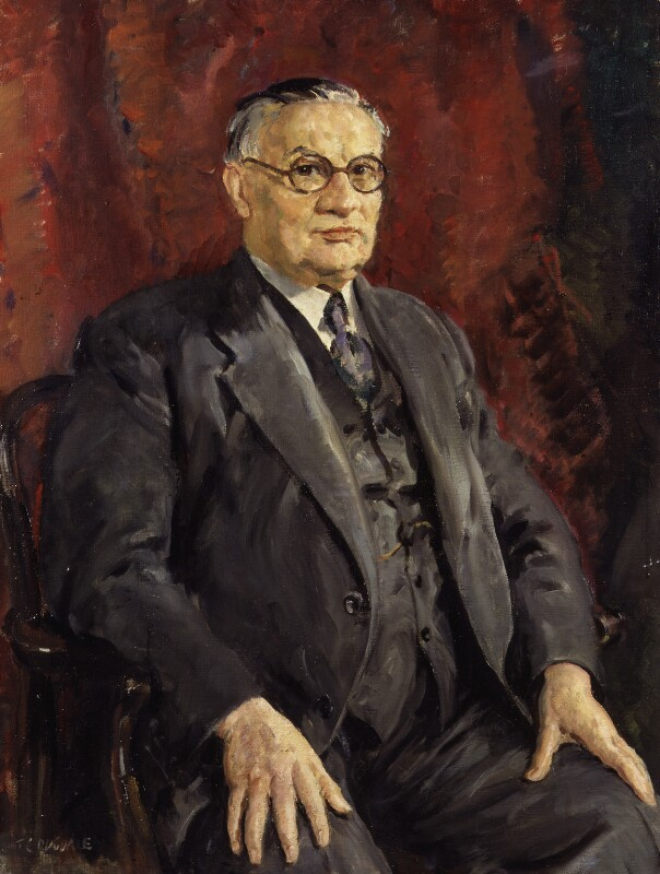 Ernest Bevin, by Thomas Cantrell Dugdale, circa 1945 - NPG 3921 - © National Portrait Gallery, London