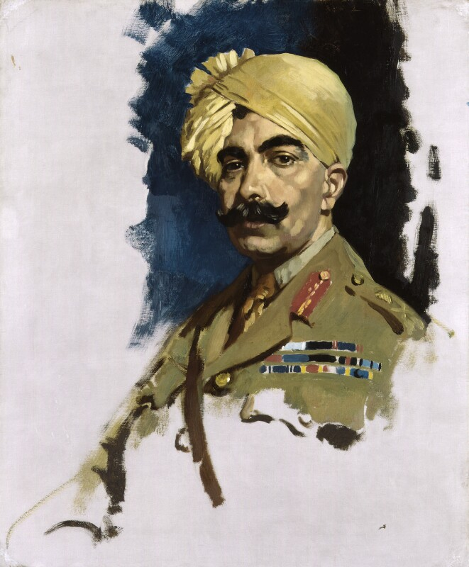 Ganga Singh, Maharaja of Bikaner, by Sir William Orpen, 1919 - NPG 4188 - © National Portrait Gallery, London