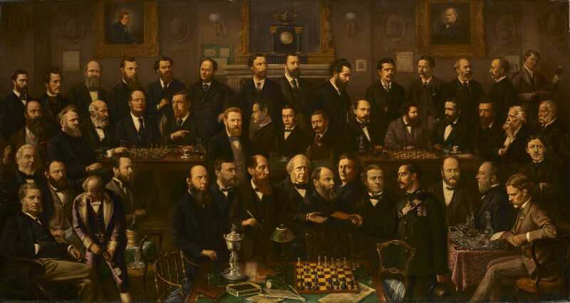 Chess players, by Anthony Rosenbaum, 1874-1880 - NPG 3060 - © National Portrait Gallery, London