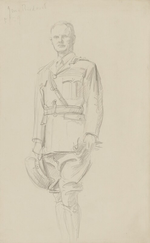 William Riddell Birdwood, 1st Baron Birdwood, by John Singer Sargent, circa 1922 - NPG 2908(1) - © National Portrait Gallery, London