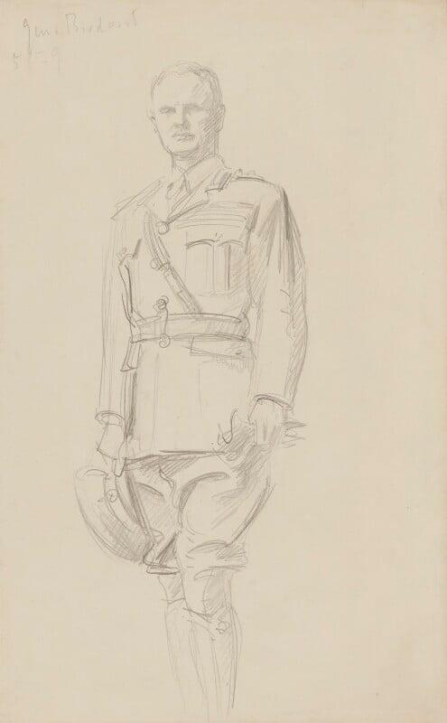 William Riddell Birdwood, 1st Baron Birdwood, by John Singer Sargent, circa 1922 - NPG 2908(1) - © National Portrait Gallery, London