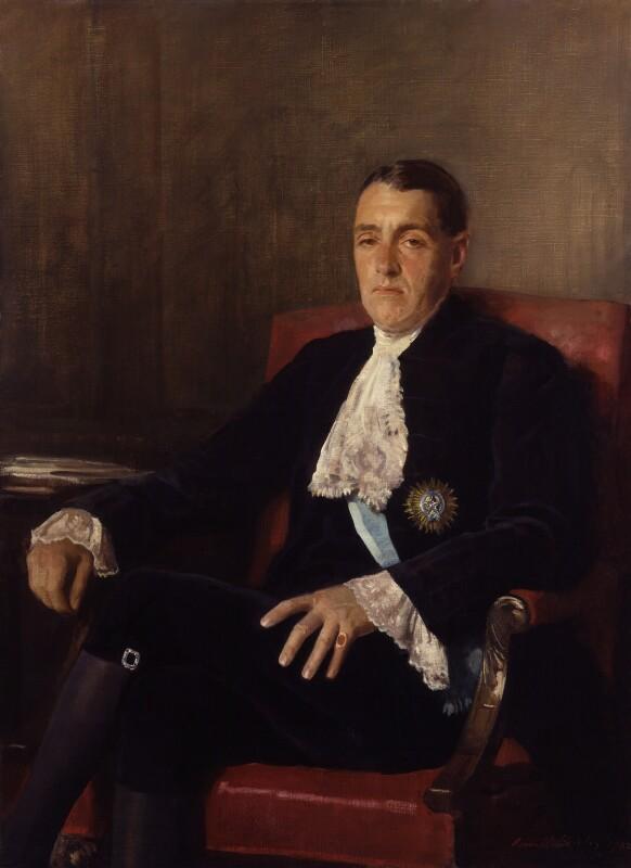 Frederick Edwin Smith, 1st Earl of Birkenhead, replica by Sir Oswald Birley, 1932, based on a work of circa 1922 - NPG 2552 - © National Portrait Gallery, London