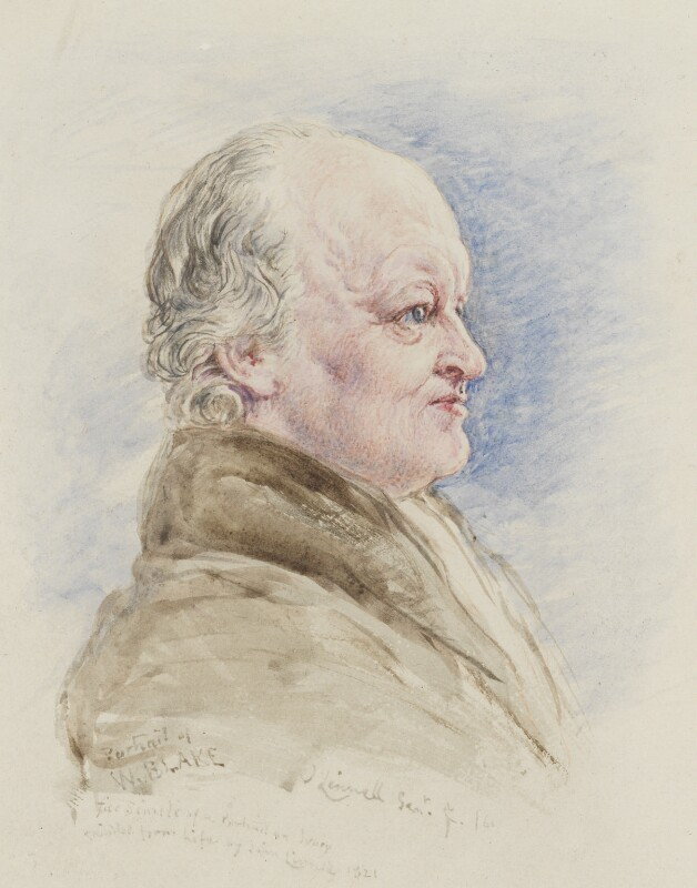 William Blake, replica by John Linnell, 1861, based on a work of 1821 - NPG 2146 - © National Portrait Gallery, London