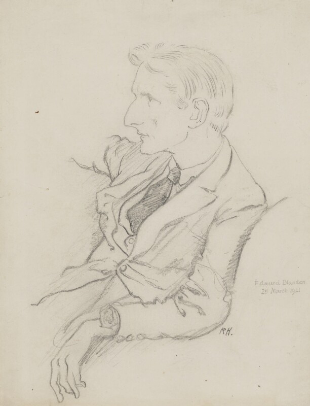 Edmund Blunden, by Ralph Hodgson, 1921 - NPG 4976 - © National Portrait Gallery, London
