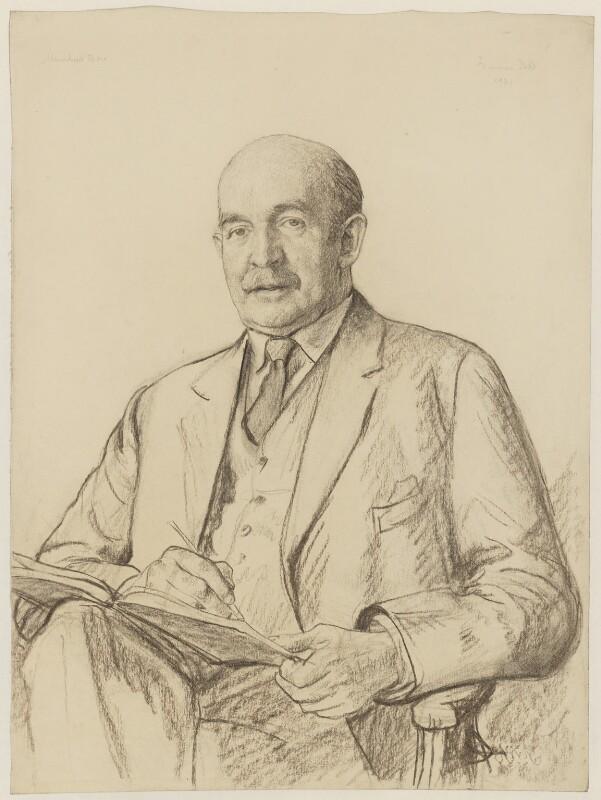 Sir Muirhead Bone, by Francis Dodd, 1931 - NPG 4428 - © National Portrait Gallery, London
