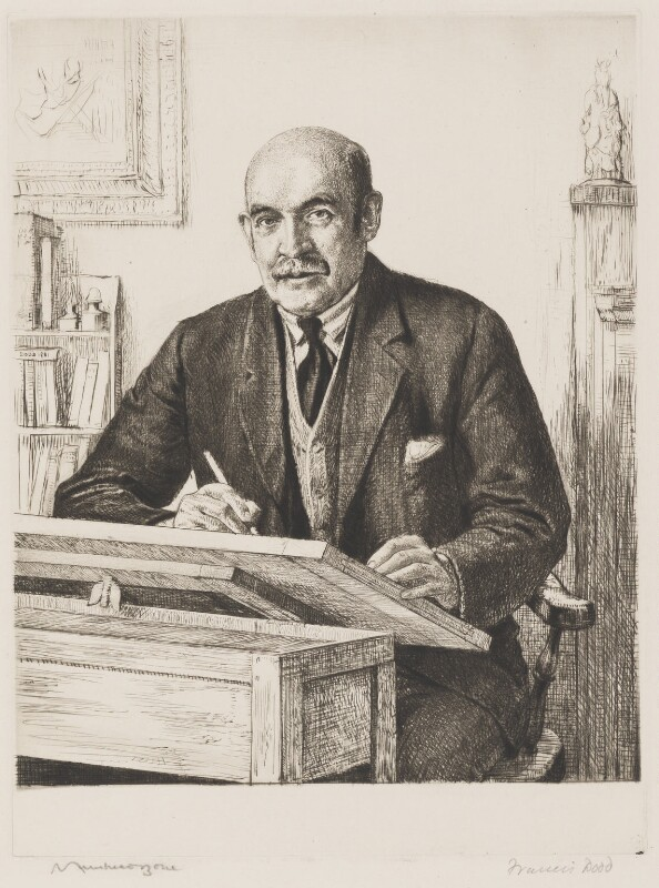 Sir Muirhead Bone, by Francis Dodd, 1931 - NPG 3079a - © estate of Francis Dodd