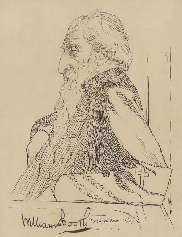 William Booth, by Stephen Reid, 1906 - NPG 2275 - © National Portrait Gallery, London