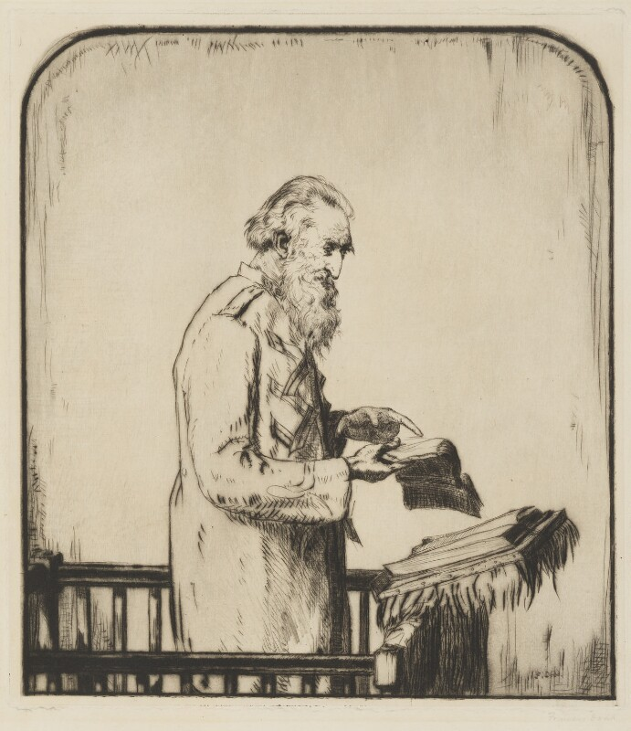 William Booth, by Francis Dodd, 1907 - NPG 1783a - © estate of Francis Dodd