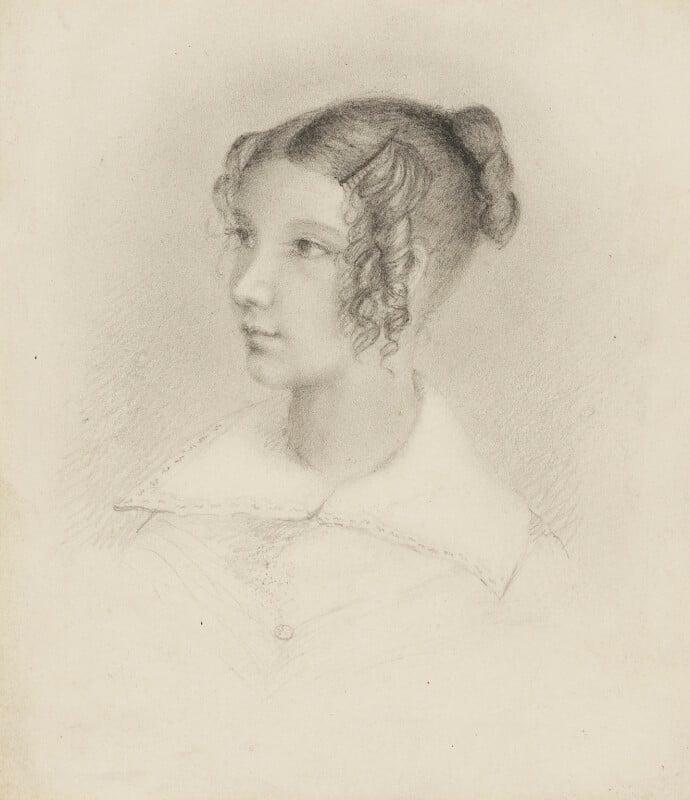 Anna Bottomley (née Thomson), by Elizabeth King (née Thomson), 1825-1850 - NPG 1708(d) - © National Portrait Gallery, London