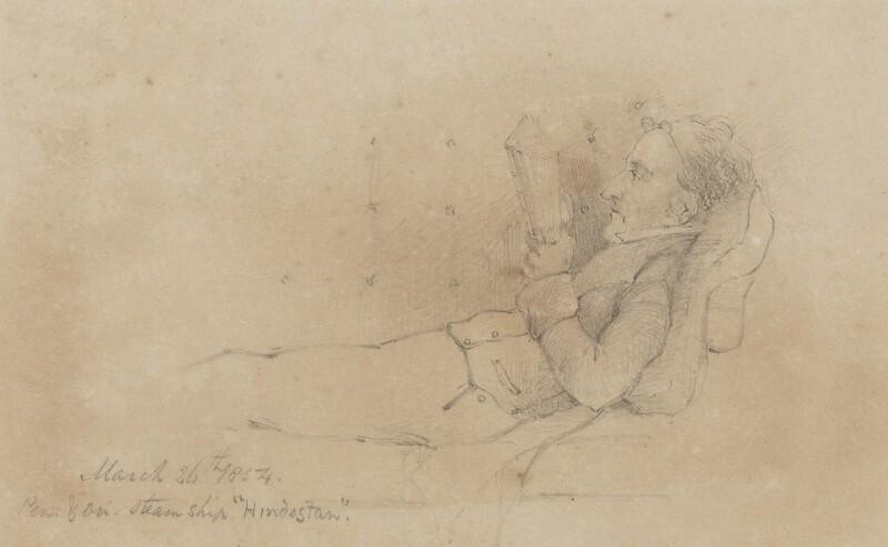 Sir John Bowring, by Unknown artist, 1854 - NPG 2550 - © National Portrait Gallery, London