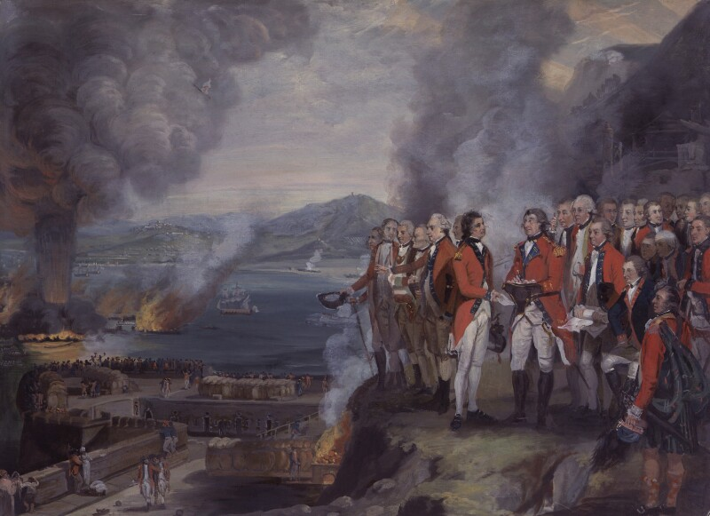 The Siege of Gibraltar, 1782, by George Carter, 1784 - NPG 1752 - © National Portrait Gallery, London