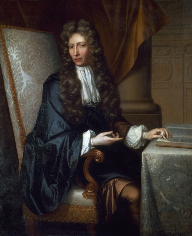 Robert Boyle, after Johann Kerseboom, based on a work of circa 1689-1690 - NPG 3930 - © National Portrait Gallery, London