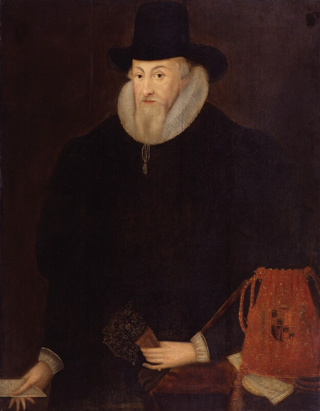 Thomas Egerton, 1st Viscount Brackley, by Unknown artist, late 16th-early 17th century - NPG 3783 - © National Portrait Gallery, London