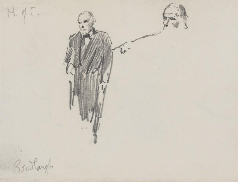 Charles Bradlaugh, by Sydney Prior Hall,  - NPG 2313 - © National Portrait Gallery, London