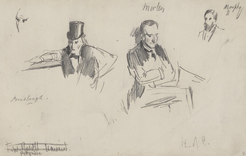 Three sketches, by Sydney Prior Hall,  - NPG 2316 - © National Portrait Gallery, London