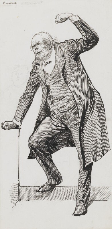 Charles Bradlaugh, by Harry Furniss, 1880s-1900s - NPG 3555 - © National Portrait Gallery, London