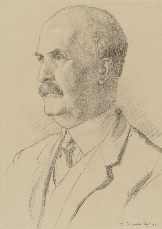Sir William Henry Bragg, by Randolph Schwabe, 1932 - NPG 3255 - © National Portrait Gallery, London
