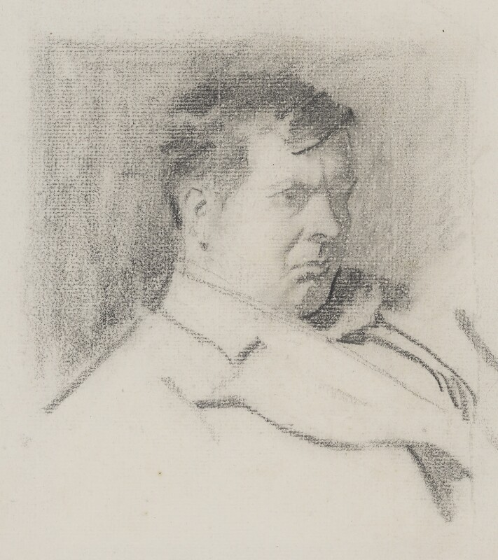 Sir Frank Brangwyn, by Phil May, circa 1895 - NPG 4057 - © National Portrait Gallery, London