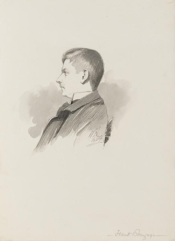 Sir Frank Brangwyn, by (William) Walker Hodgson, 1892 - NPG 4041(5) - © National Portrait Gallery, London